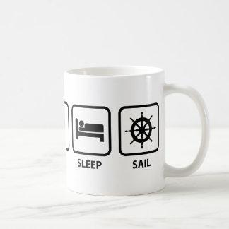 Eat Sleep Sail Basic White Mug