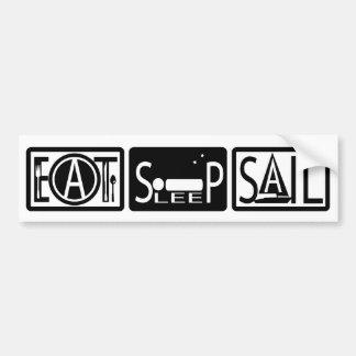 Eat Sleep Sail Bumper Sticker 2