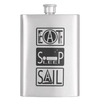 Eat Sleep Sail Classic 8oz Flask