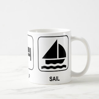 Eat Sleep Sail Coffee Mug