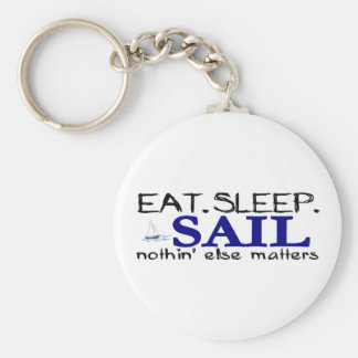 Eat Sleep Sail Key Ring