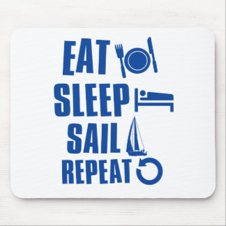Eat sleep Sail Mouse Mat