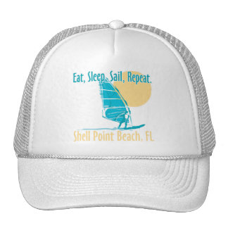 Eat, Sleep, Sail, Repeat Mesh Hats