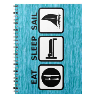 Eat Sleep Sail Spiral Note Book
