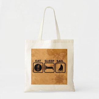 Eat Sleep Sail Tote Bag