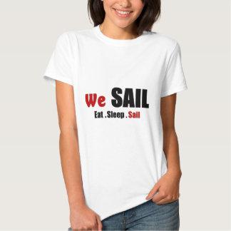 Eat sleep sail tshirts
