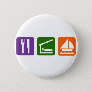 Eat Sleep Sailing 6 Cm Round Badge