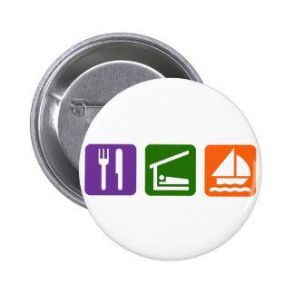 Eat Sleep Sailing 6 Cm Round Badge