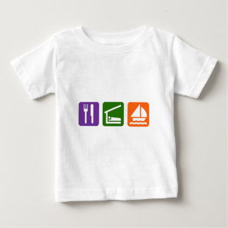 Eat Sleep Sailing Baby T-Shirt