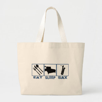 Eat Sleep Sax saxophone Large Tote Bag