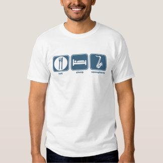 eat sleep saxophone shirts