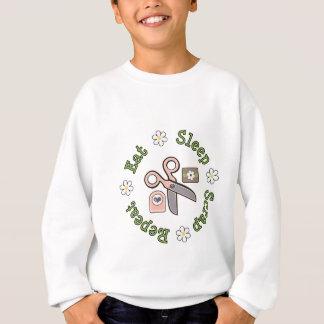 Eat Sleep Scrap Repeat Kids Sweatshirt