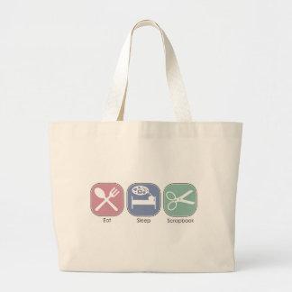 Eat Sleep Scrapbook Tote Bags