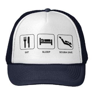 Eat Sleep Scuba Dive Cap