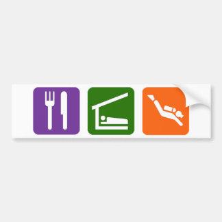 Eat Sleep Scuba Diving Bumper Sticker