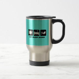 eat sleep scuba stainless steel travel mug
