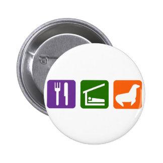 Eat Sleep Seals 6 Cm Round Badge