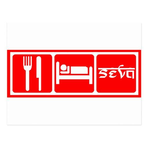 Eat,Sleep,Seva Post Card