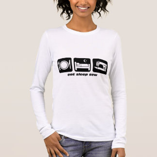 Eat sleep sew long sleeve T-Shirt
