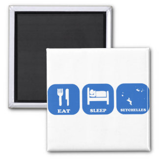 Eat Sleep Seychelles Square Magnet