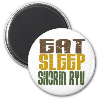 Eat Sleep Shorin Ryu 1 6 Cm Round Magnet