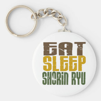 Eat Sleep Shorin Ryu 1 Basic Round Button Key Ring