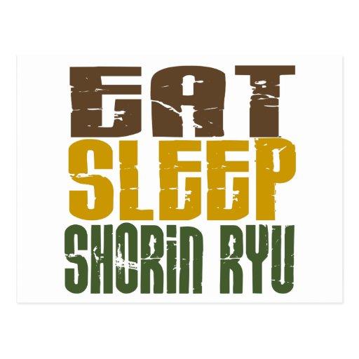 Eat Sleep Shorin Ryu 1 Post Card