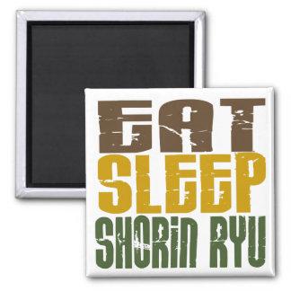 Eat Sleep Shorin Ryu 1 Square Magnet