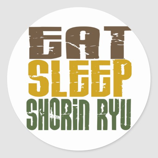 Eat Sleep Shorin Ryu 1 Round Sticker