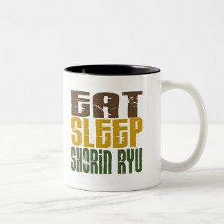 Eat Sleep Shorin Ryu 1 Two-Tone Mug