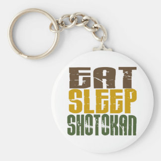 Eat Sleep Shotokan 1 Basic Round Button Key Ring