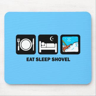 eat sleep shovel mousepad