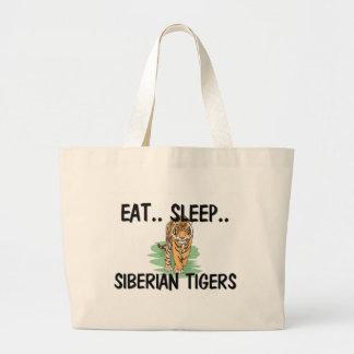Eat Sleep SIBERIAN TIGERS Bag