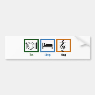 Eat Sleep Sing Car Bumper Sticker