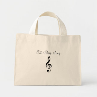 Eat. Sleep. Sing. Mini Tote Bag