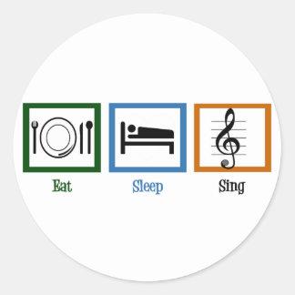 Eat Sleep Sing Stickers