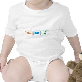 eat sleep skate board baby bodysuits