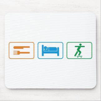 eat sleep skate board mousepad