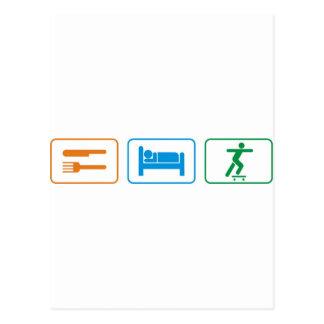 eat sleep skate board postcards