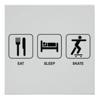 Eat Sleep Skate Invitation