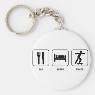Eat Sleep Skate Keychains