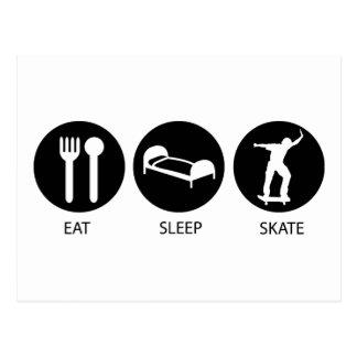 Eat Sleep Skate Postcards