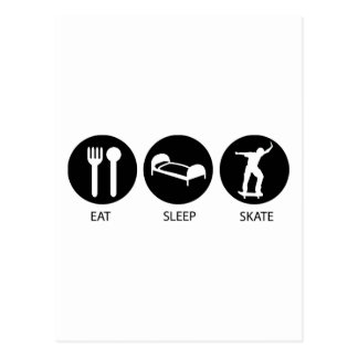 Eat Sleep Skate Post Card