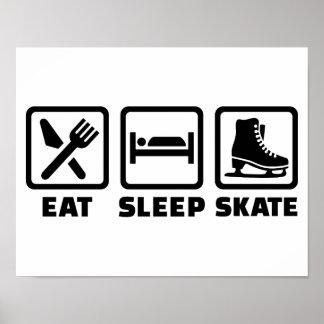 Eat Sleep Skate skating Posters
