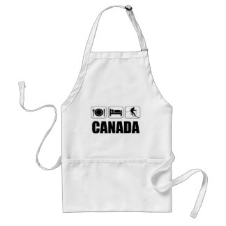 Eat sleep ski canada standard apron