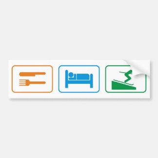 EAT SLEEP SKI CAR BUMPER STICKER