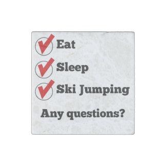 Eat Sleep Ski Jumping Checklist Stone Magnet