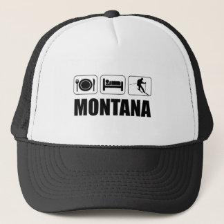 Eat Sleep Ski Montana Trucker Hat