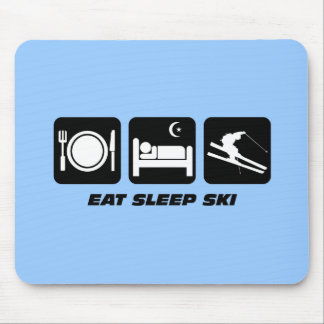 eat sleep ski mouse mat