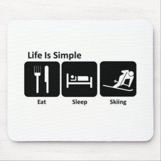 Eat, Sleep, Ski Mouse Pad